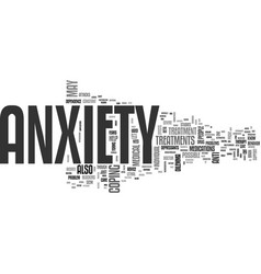 anxiety medicine text word cloud concept vector image