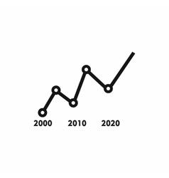 Arrow graph icon simple style vector
