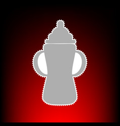 baby bottle style vector image