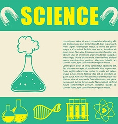 Banner design with science symbols vector image vector image