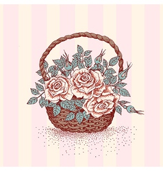 Basket rose vector image vector image