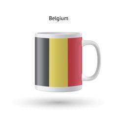 Belgium flag souvenir mug on white background vector