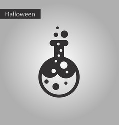 black and white style icon halloween potion bottle vector image vector image