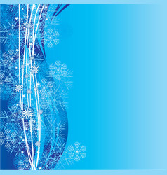 blue cyan snowflakes background vector image
