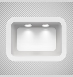 boutique in the top wall with light sources vector image