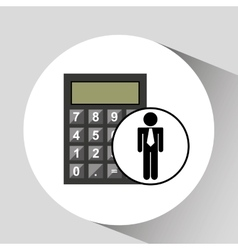 Business man calculator icon vector