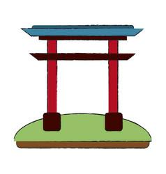 chinese portal symbol vector image vector image