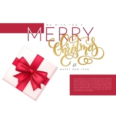 Christmas banner with top vector
