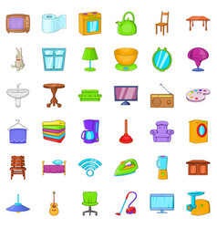 comfort room icons set cartoon style vector image vector image