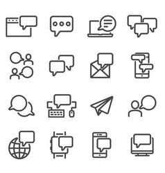 Communication speech bubble message symbols vector