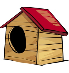 doghouse clip art cartoon vector image vector image