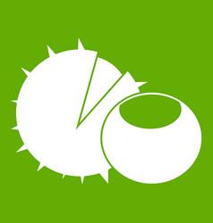 hazelnuts icon green vector image