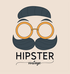 hipster fashion vector image