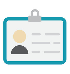 Identity flat icon id and identification vector