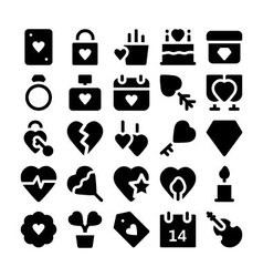 Love and romance icons 3 vector