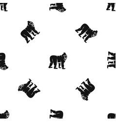 Mandrill monkey pattern seamless black vector