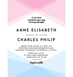 Modern wedding invitation vector