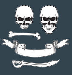Pirate flag toolkitxa vector