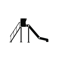 Playground slide icon vector