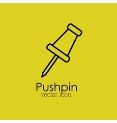 Pushpin isolated icon design vector