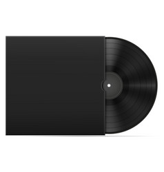 retro vinyl disk in the cover stock vector image