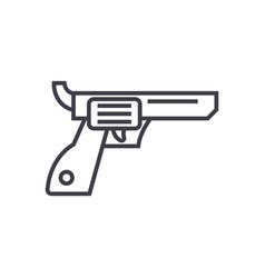 revolverguncowboy line icon sign vector image vector image