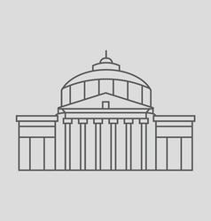 Romanian capital vector