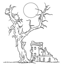 Ruin castle vector