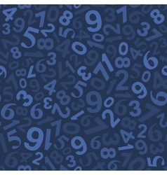 Seamless Background Pattern with Numbers vector image