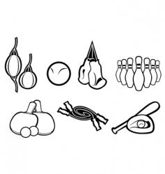 set of active sport symbols vector image