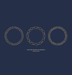 set of modern geometric circular frames for text vector image vector image