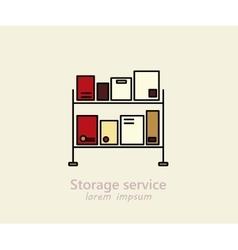 Storage service logo vector image