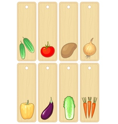 vegetables label vector image vector image