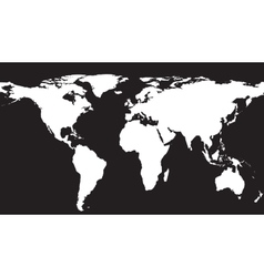 White map on black background vector image vector image