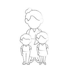 Women with kids vector