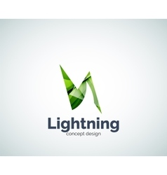 Lightning logo template vector