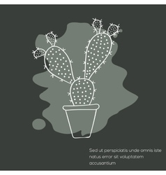 Cactus invitation card vector