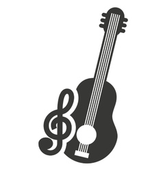 Musical instrument silhouette isolated vector