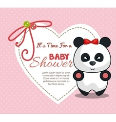 Baby shower invitation with cute animal vector