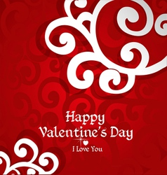 Delicate Valentine card forcongrayilations vector image