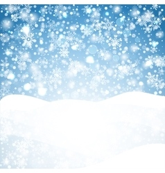 Snowflakes blue background geometric natural vector