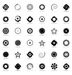 Stars and rotation design elements vector