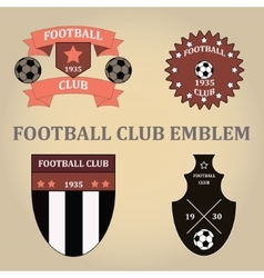 Set soccer football emblems vector