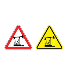 Warning sign of attention to pump oil hazard vector