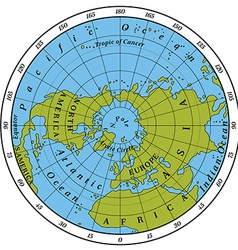 Northern hemisphere vector