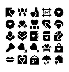 Love and romance icons 5 vector