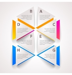 Infographics set options with place for text vector