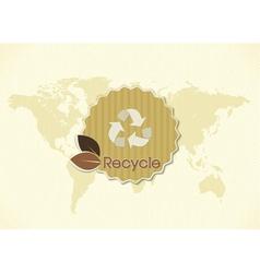 eco friendly sticker vector image
