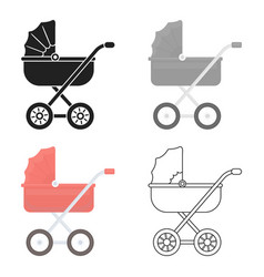 Baby transport icon in cartoon style isolated on vector