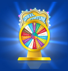 ball of luck 3d object fortune roulette in flat vector image vector image
